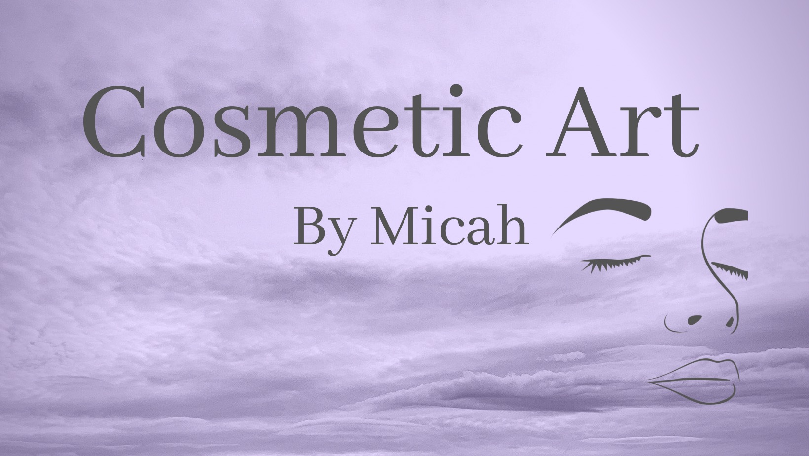 Responsive image Logo Cosmetic Art by Micah